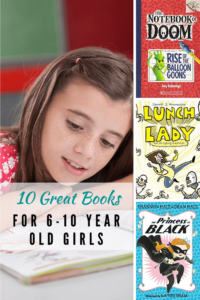 Girl reading. Books for 6-10 year old girls.