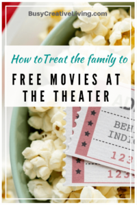 How to get free movie theater tickets. The Busy Creative