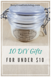 10 DIY Gifts for $10. Body Butter