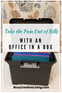 Take the pain out of bills with an office in a box.