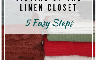 Tidying up the linen closet in 5 easy steps.