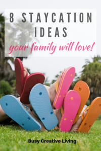 Flip flops. 8 Staycation ideas for families