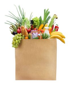 Grocery bag. Make sure your grocery budget is right for your family