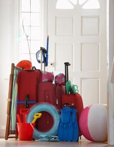 Suitcases by Door