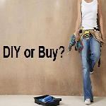 DIY or Buy? Woman with tools