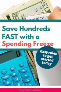 Spending Freeze how-to