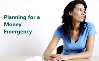 Planning for a Money Emergency. Woman Looking Away