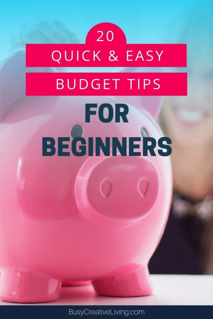 Big Piggy Bank. 20 quick and easy budget tips for beginners